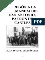 I PREGÓN A LA HERMANDAD DE SAN ANTONIO de CANILES