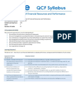 Management of Financial Resources and Performance_Syllabus_Level 7