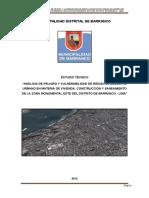 Analisis de Peligro y Vulnerabilidad Barranco