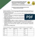 ACTA 12 DE REUNIÓN DE DOCENTES REPRESENTANTES