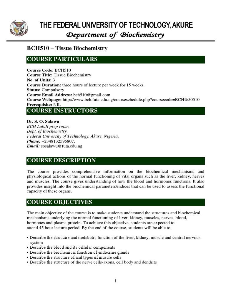 Bch 510 Hormone Endocrine System