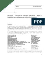 NCh 1171 2 of 2001 Hormigón Testigos de Hormigón Endurecido Parte II Evaluación de Resistencia Mecánica
