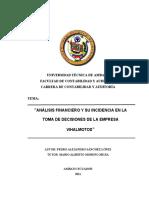 Proyecto de Investigacion sobre analisis a los estados financieros