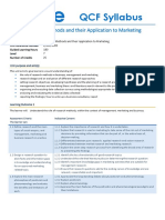 ABE Research Methods and their Application to Marketing_Syllabus_Level 7