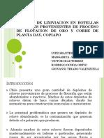 Pruebas de Lixiviacion en Botellas a Relaves Provenientes (2)