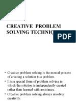 Creative Problem Solving Techniques