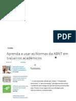 Aprenda a Usar as Normas Da ABNT Em Trabalhos Acadêmicos - Tecmundo