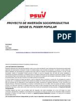 Formato Proyecto Inversion Socioproductiva-PSUV