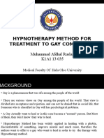 Hypnotherapy Method for Treatment to Gay Community