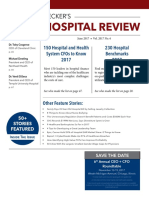 June 2017 Issue of Beckers Hospital Review