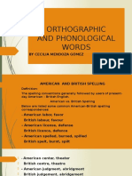 Orthographic Words - Linguistic