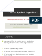 Applied Linguistics 2 Program 1sem2017