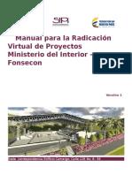 Manual Para La Radicacion Virtual de Proyectos