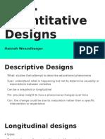 ch 7  quantiative designs  1