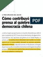 Como Contribuyó La Prensa Al Quiebre de La Democracia Chilena