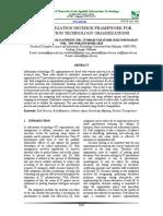 A Risk Mitigation Decision Framework for Information Technology Organizations