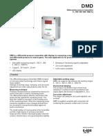Regin DMD Air Differential Pressure Transmitter