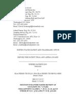 Unified Patents Inc. v. Blackbird Tech LLC d/b/a Blackbird Technologies, IPR2017-01525 (PTAB June 5, 2017)