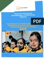 Acreditación y Certificación DIGEACE