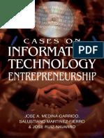 ENTREPRENEURSHIP Cases on Information Technology Entrepreneurship