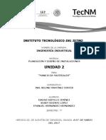 UNIDAD 2 MANEJO DE MATERIALES