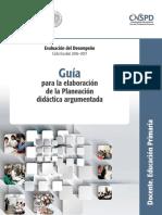 Guía Planeación Argumentada Primaria