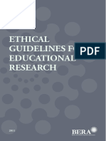 BERA Ethical Guidelines 2011