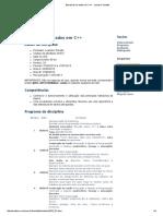 Estruturas de dados em C++ - Leandro Tonietto