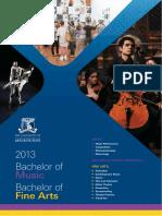 BFA BMus Undergraduate Brochure
