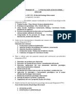 Temario para prueba N°1 Psicología Educacional - Septiembre 2016 avance