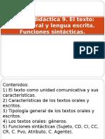 Unidad Didc3a1ctica 9 El Texto