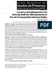 Presence in art as something that is not there by itself. The affect potencies in the act of com-position between bodies.pdf