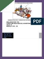 Trabajo Académico de Metodología de La Investigación
