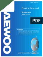 service manual refrigerador Daewoo Fr 142