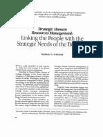 Strategic HR for 5 P Model