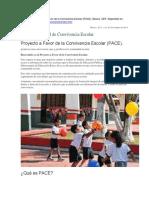 5. Proyecto a Favor de La Convivencia Escolar (PACE),
