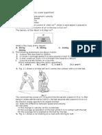 O Level Past Paper