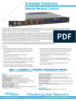 Newmar Powering the Network DST-8-RB Remote Reboot Distribution Panel -48VDC 12VDC 24VDC