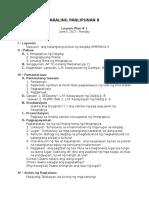 Araling Panlipunan 8 - Lesson Plan Day 1