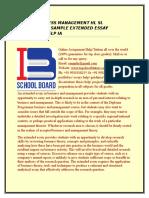 IB BUSINESS MANAGEMENT HL SL EXAMPLE SAMPLE EXTENDED ESSAY TUTOR HELP IA.docx