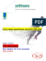 New Pass4itsure Cisco 210-250 Dumps PDF - Understanding Cisco Cybersecurity Fundamentals
