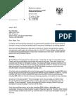 Letter to Toronto Mayor Tory