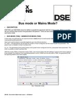 056-042 Bus Mode or Mains Mode