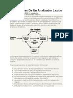 Aplicaciones de Un Analizador Lexico