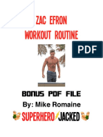 Zac Efron Workout Routine