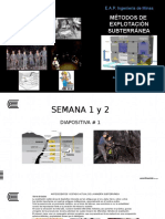 Diapositiva # 1 Métodos Subterráneos 2017 I S 1-2
