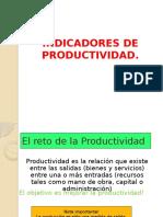 Indicadores de Productividad