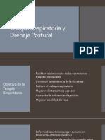 Palmopercusion y Drenaje Postural