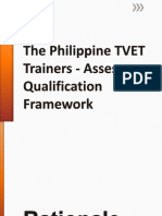 The Philippine TVET Trainers - Assessors Qualification Framework
