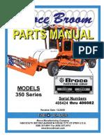350 Series Broce Broom Parts Catalog 405424 406082